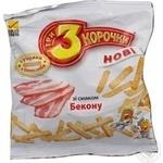 Сухари Три корочки пшеничный с беконом 40г Украина