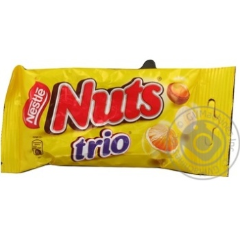 Арахіс драже тріос Nuts Nestle 45г
