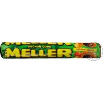 Конфета Меллер лесной орех 24шт 38г в упаковке Россия
