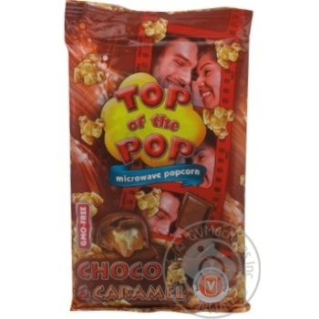 Top of Pop Caramel Flavor Popcorn for Microwave Oven 100g - buy, prices for Novus - image 3