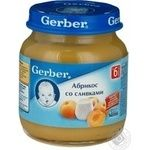 Puree Gerber apricot with apricot for children from 6 months 125g Poland