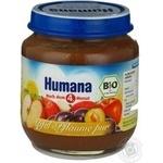 Пюре Хумана Яблуко-слива для дітей з 6 місяців скляна банка 125г Німеччина