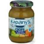 Пюре Карапуз из яблок и персиков детское с 4 месяцев 200г