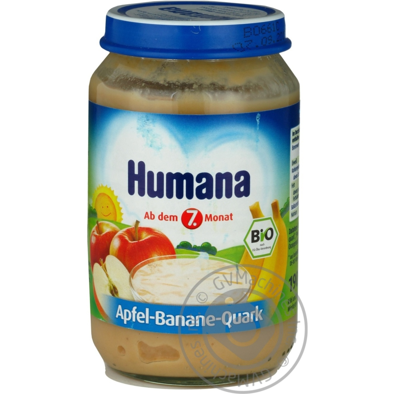 Baby Puree Humana Apple Banana With Cottage Cheese For 7+ Month Old Babies  Glass