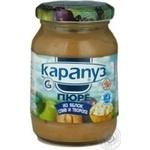 Пюре Карапуз з яблук слив і сиру дитяче з 4 місяців 200г