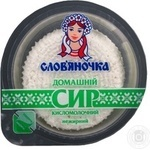 Cottage cheese Slovyanochka homemade nonfat 340g Ukraine