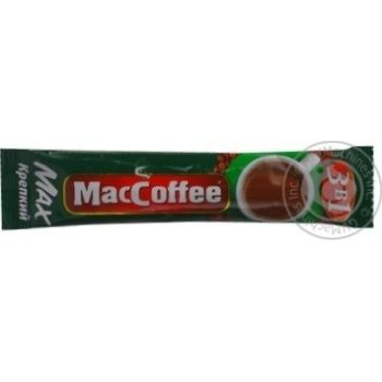 Instant coffee drink with sugar and sweetener MacCofee 3in1 Max Strong stick 16g Singapore - buy, prices for MegaMarket - image 3