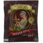 Instant coffee drink with hazelnut flavor Petrovskaya Sloboda 3in1 stick sachet Russia