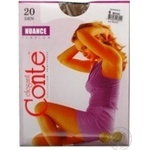Tights Conte bronze polyamide for women 20den 6size