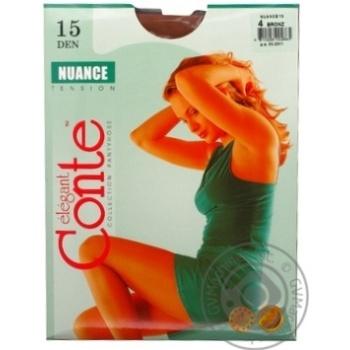 Колготы Conte Nuance 15 Den р.4 bronz шт - купить, цены на Novus - фото 2