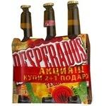 Пиво Десперадос текила светлое 5.9% 3шт 1000мл стеклянная бутылка Франция