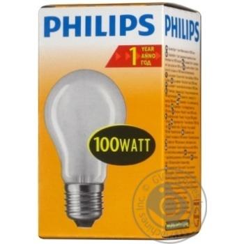 Лампа Philips A55 звичайна матова 100w E27 FR - купить, цены на Novus - фото 2