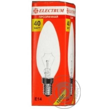 Лампа Electrum свеча 40W E14 A-IC-0013 - купить, цены на МегаМаркет - фото 2