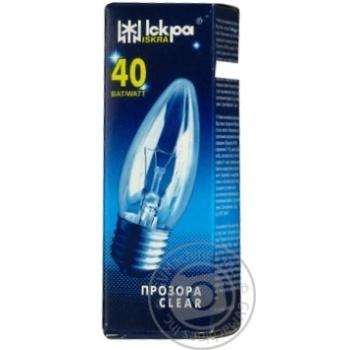 Лампа накаливания Искра свечка прозрачная Е27 40Вт - купить, цены на Novus - фото 3