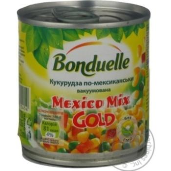 Сумiш овочева салат кукурудза по Мексиканськи Bonduelle ж/б 170г