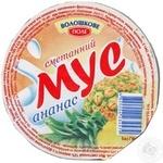 Sour cream product Voloshkove pole sour cream pineapple 100g Ukraine