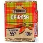 Сыр Славия Дружба плавленый 55% 100г Украина