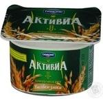 Бифидойогурт Активиа отруби-злаки 2.9% пластиковый стакан 120г Украина