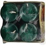 Свічі Bispol 4шт зелені 40х60