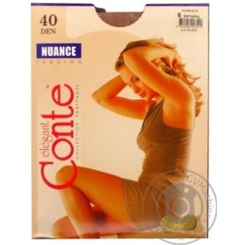 Колготи жiночi Nuance Conte 40 розмiр 6 natural