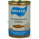 olive Angelo salmon green canned 314g can Spain