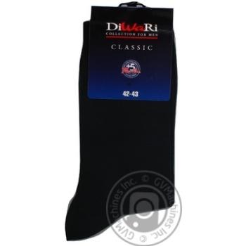 Носки мужские DiWaRi Classic 000 черный р27 пара - купить, цены на Novus - фото 3