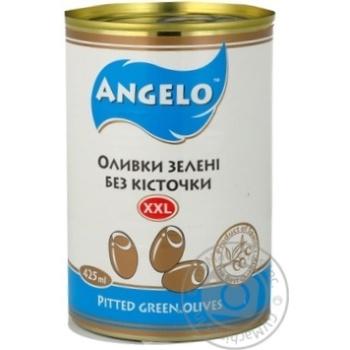 оливка Анжело зелений консервована 425г залізна банка Іспанія