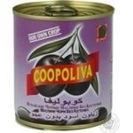olive Coopoliva black pitted 200g can