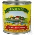 Vegetables corn Family canned 425ml can Ukraine