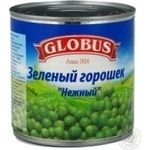 Vegetables pea Globus green canned 425ml can Hungary