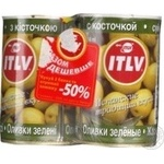 olive Itlv green with bone 2pcs 300g can Russia