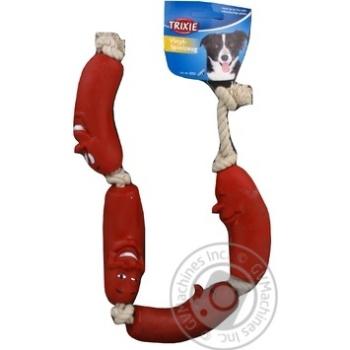 Іграшка Trixie для тварин Сосиски на мотузці 3252 х4 - купить, цены на МегаМаркет - фото 3