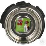 Миска для собак Topsi з нержавіючої сталі з гумовим кільцем з тисненням4118 0,45л 14см