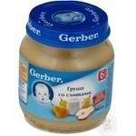 Puree Gerber pear pear for children 125g Poland