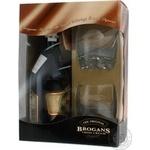 Набір Лікер Brogans Irisn Cream 17% 0,7л+ 2 скл.