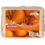 Egg Yasensvit Molodylni brown chilled c1 450g cardboard packaging