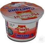 Сметана 30% President 200г
