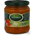 Caviar Baltimor squash canned 450g glass jar Russia