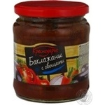 Vegetables eggplant Krasnodarye with vegetables in tomato sauce 440g glass jar Russia