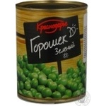 Vegetables pea Krasnodarye green canned 360g can Russia