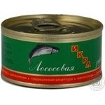 Caviar Kamchatskaya ryba salmon red grain-growing 120g can Russia