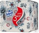 Бумага туалетная Selpak SPA цветн с ароматом пудра 4шт/уп
