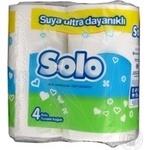 Туалетная бумага Solo белая 4шт