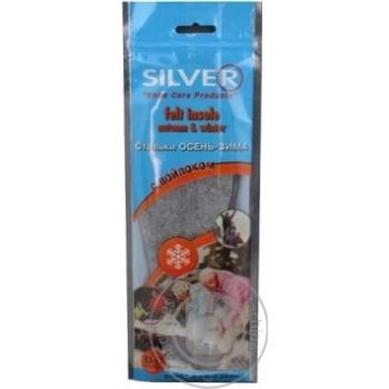 Стельки д/обуви Silver универсал.войлок осень-зима шт - купить, цены на МегаМаркет - фото 2