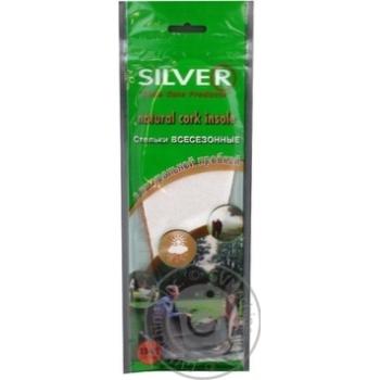 Устілки для взуття Silver натуральна пробка 33-45 - купить, цены на МегаМаркет - фото 3