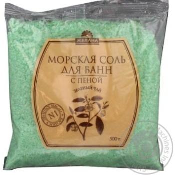 Сіль для ванн морська Бажана Зелений чай 500г х30 - купити, ціни на МегаМаркет - фото 5