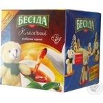 Black pekoe tea Besida Classic teabags 100x1.8g Russia