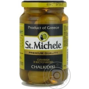 Оливки зеленые St.Michele с косточкой 355г - купить, цены на Novus - фото 4