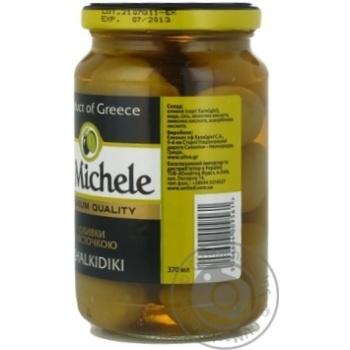 Оливки зеленые St.Michele с косточкой 355г - купить, цены на Novus - фото 2