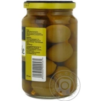 Оливки зеленые St.Michele с косточкой 355г - купить, цены на Novus - фото 3
